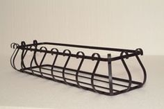 French style A wrought iron window box planter Wrought Iron Window Boxes, Metal Window Boxes, Window Box Flowers, Wrought Iron Decor, Flower Boxes, Balcony Planters, Window Planter Boxes, Hanging Planters, Iron Windows