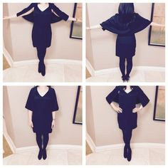 """🎉 HP 11/6 🎉Black Mini Capelet Dress 100% Polyester. This sleeveless, v-neck dress features a bold cape that connects mid-armhole, then wraps all the way around the back for superior style. Runs small. Bust: 34"""" Waist 26"""" Hips: 34"""". Boutique Dresses Mini"""