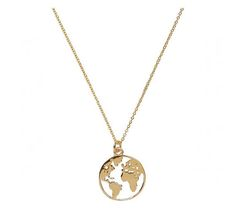 World Map Halskette-World Globe-Globetrotter Halskette-minimal World Map Necklace-World Globe-Globetrotter Necklace-minimal Wedding Jewelry For Bride, Vintage Wedding Jewelry, Cute Jewelry, Jewelry Accessories, Zierlicher Ring, World Map Necklace, World Map Tattoos, World Globes, Cute Necklace