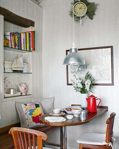 I'm in kitchen remodel idea overload and this table would be a great idea for my small nook area.
