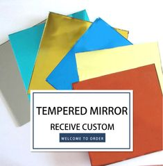 Luck glass tempered mirror, colorful and custom design.