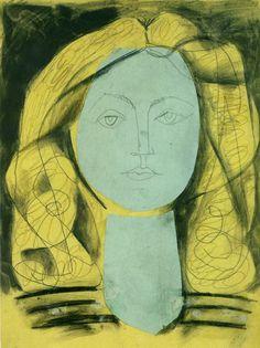 """Pablo Picasso - """"Portrait de Françoise Gilot 3"""" 1946 www.lab333.com https://www.facebook.com/pages/LAB-STYLE/585086788169863 http://www.labs333style.com www.lablikes.tumblr.com www.pinterest.com/labstyle"""
