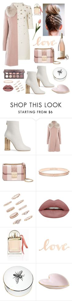 """Untitled #169"" by natashaftr on Polyvore featuring Salvatore Ferragamo, Karen Millen, MICHAEL Michael Kors, Forever 21, Chloé, Hostess, Primitives By Kathy and Rory Dobner"