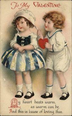 Clapsaddle Valentine Boy Gives Girl Heart c1910 Postcard | eBay