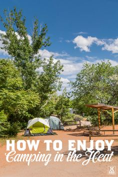 Don't let the heat keep you from camping! Use these tips. Don't let the heat keep you from camping! Use these tips. Winter Camping Gear, Camping Items, Camping List, Kayak Camping, Camping World, Family Camping, Camping Packing, Packing Lists, Camping Stuff