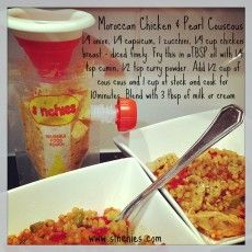 Moroccan Chicken with Pearl Couscous