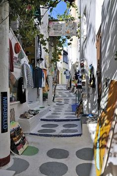 Streets in Ios, Greece