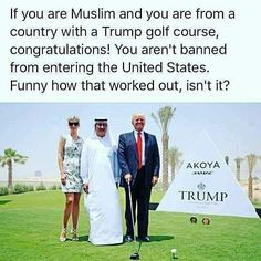 Well, at least we learned where to find tRump accommodations in the Arabic world. Republican Party, Gop Party, We The People, Donald Trump, Presidents, At Least, Shit Happens, Thoughts, Sayings