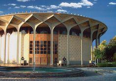 City Theater Teatr-e Shahr Tehran, Iran Persian Architecture, Architecture Design, Dubai Architecture, Iran Pictures, Visit Iran, Round Building, Iran Travel, Travel Usa, Tehran Iran