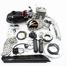 Bicycle Engine Kit, Motorized Bicycle, Chopper Bike, 50cc, Bicycle Parts, Cycling, Engineering, Ideas, Racing