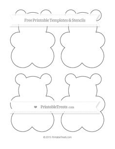 free printable extra large gummy bear template shapes and