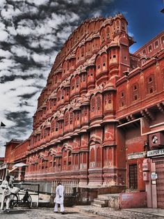 Hawa Mahal (Palace of the Winds), Jaipur, India. Jaipur is also known as Pink City and Paris of India.