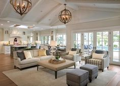 Beautiful Farmhouse Living Room Ideas! Find some of the best farmhouse themed living room decorations and designs that you can use for inspiration. We have modern farm home living rooms and more. Living Room Furniture Layout, Living Room Designs, Home Living Room, Living Room Decor, Open Floor Plan Living Room And Dining, Bedroom Decor, Wall Decor, Design Salon, Home Fashion