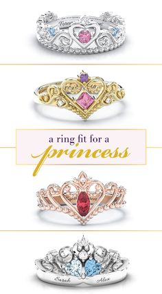 The holiday gift that will make her feel like royalty! Design your own one-of-a-kind princess tiara ring by choosing from enchanting designs and personalizing with your choice of metal, gemstones and engravings! Free shipping + free gift with every purchase!