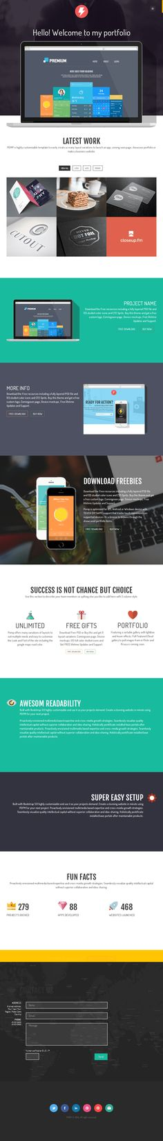 Pomp Landing Page on Web Design Served