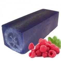 loofah soap slice a right rasberry rub