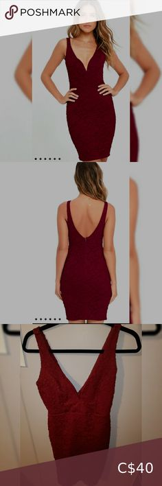 Red dress from Lulus Sexy red bodycon dress. Suuuper flattering Lulu's Dresses
