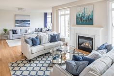 Coastal Living Room Design Classic Dr. by Lionsgate Design - BL