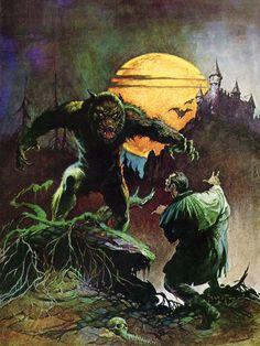 """""""Werewolf"""" by Frank Frazetta."""