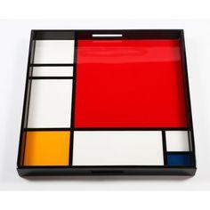 Plateau de service Mondrian grand modèle