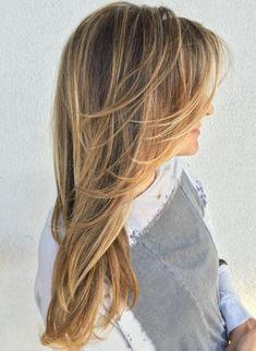 Layered Haircut For Long Fine Hair Long Fine Hair, Long Hair Cuts, Thin Hair, Long Layered Haircuts, Haircuts For Fine Hair, Layered Hairstyles, Medium Hairstyles, Feathered Hairstyles, Short Haircuts