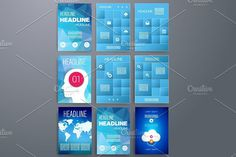 Templates. App and Infographic.. UI Elements