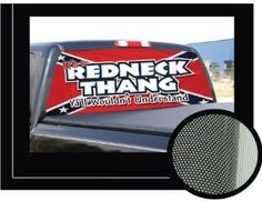 Amazoncom REDNECK THANG X Rear Window Graphic Decal - Redneck window decals for trucks