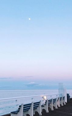 hanging moon with pastel haze Blue Aesthetic Pastel, Sky Aesthetic, K Wallpaper, Wallpaper Backgrounds, Beautiful Places, Beautiful Pictures, Everything Is Blue, Nice View, Aesthetic Pictures