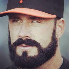 Sporting beard #thebeardedchap #beards #baseball