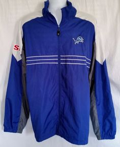 Detroit Lions Reebok Sports Illustrated NFL Team Apparel Windbreaker Size 2XL  & #Reebok #DetroitLions