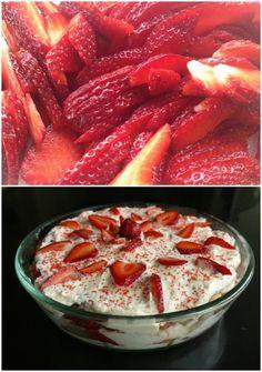 τιραμισού με φράουλες - τιραμιφρεζιέ Trifle, Grapefruit, Tiramisu, Deserts, Food And Drink, Strawberry, Sweet, Recipes, Elegant