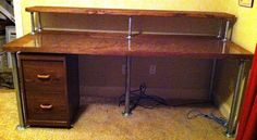 Ham radio desk plans This video shows the progress I have been making on my new ham radio nook and Like most of us do at one Woodworking In An Apartment, Woodworking Desk Plans, Woodworking Tools For Sale, Ham Radio Equipment, Baby Changing Table, Furniture Projects, Office Furniture, Diy Home Decor, Murphy Bed