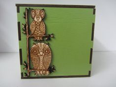 All purpose Green Laser cut and engraved wooden decorative owl container This can be used for so many things: from cotton bud holder, cotton wool container, key holder, odds and ends/bitts and bobs container. The list is endless 4X4 inches painted a gorgeous green and sealed for protection. The Box may be ordered in any color/colors of your choice. Just convo me and let me know what you'd like.