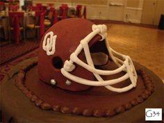 Sooner Helmet cake by BellaRosa