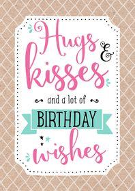 Verjaardagskaart Kisses - Verjaardagskaarten - Kaartje2go