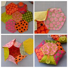 100 Brilliant Projects to Upcycle Leftover Fabric Scraps - Enterson Patchwork Hexagonal, Patchwork Cushion, Hexagon Quilt, Patchwork Patterns, Paper Piecing, Sewing Box, Sewing Tips, Sewing Tutorials, Leftover Fabric