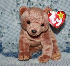 "Ty Original Beanie Baby ""Pecan"" Bear April 15,1999 Collectors Boy Girls 3 yrs+"