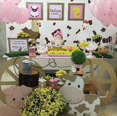 Cowgirl Birthday, Cowgirl Party, Farm Birthday, 2nd Birthday Parties, Birthday Party Decorations, Farm Animal Party, Barnyard Party, Farm Party, Second Birthday Ideas