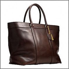 Bleeker Legacy Leather Weekend Tote by Coach $598 - It's roomy, it's easy to carry, it's functional.