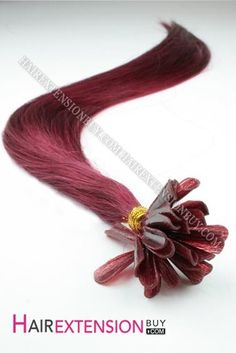 "16"" #Purple Straight Nail Tip Human Hair Extensions"