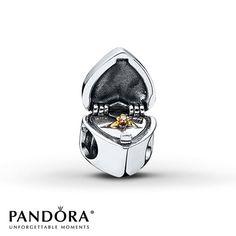 Pandora Charm CZ Heart Sterling Silver/14K Gold. Love this charm!!!!!!