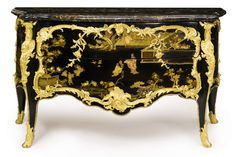 Sotheby's Auction Property from the Collections of Lily & Edmond J. Safra 2011 .Louis XV lacquer Commode attributed to B.V.R.B.