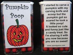 Pumpkin Poop Tic Tac Wrapper -