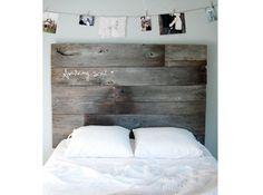 Tete de lit planche de bois sarah torrence