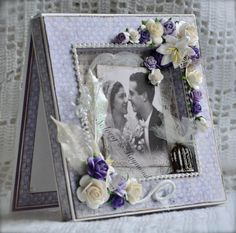 Weddingcard made with papers from Maja Design