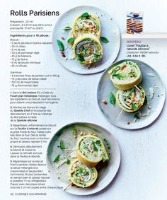 Tupperware France—page 22 Tupperware Recipes, Sandwich Recipes, New Recipes, Tapas, Entrees, Rolls, Appetizers, Snacks, Cooking