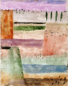 Paul Klee (1879–1940) - Landscape with Poplars (Landschaft mit Pappeln), 1929.