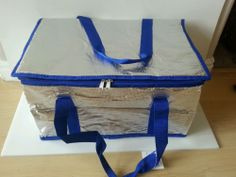 """Insulated, Collapsible Cooler, Large Tote, Silver, Portable, NEW, 17""""x11""""x10"""""""