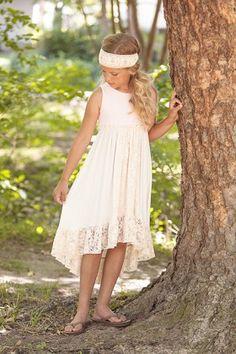 Peaches N Cream Hi-Lo Dress
