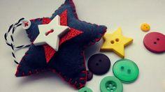 Making a Felt Star Christmas Decoration Felt Diy, Felt Crafts, Craft Tutorials, Sewing Tutorials, Christmas Decorations, Christmas Ornaments, Holiday Decor, Felt Patterns, My Etsy Shop